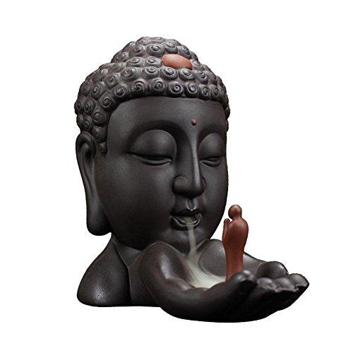 G-wukeer Quemador de Incienso de reflujo de Buda