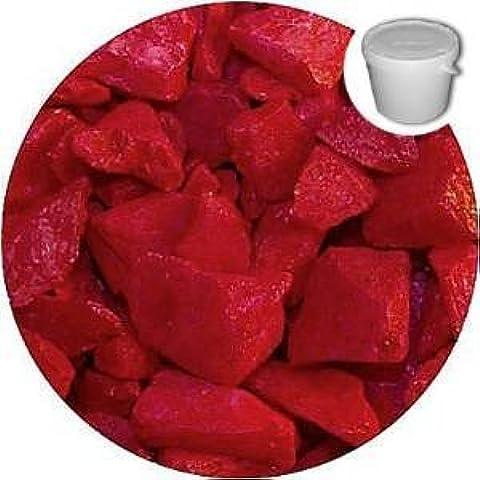 STONED® - Piedras y guijarros decorativos (1 kg, cristal), color rojo satinado