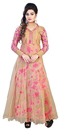 Pink Color Golden Combo Kameez Designed Salwar Suits for women&Girls anarkali Pattern.