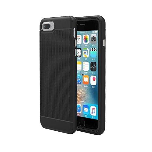 BING Für iPhone 7 Plus Trennbare Bumblebee TPU + PC Kombi-Gehäuse BING ( Color : Grey ) Black