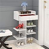 Schuhregal Everyday Home Schuhschrank Einfacher mehrschichtiger Haushalts-Speicher-Kabinett-Portal-Kabinett Multi-Funktions-Speicher-Rack-Schlafsaal Staub-sicherer Kleiner