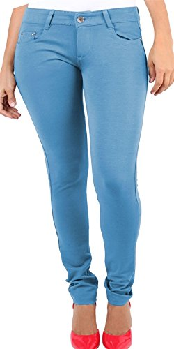 Ladies Womens Skinny Plus Size Stretchy Fitted Jeggings Jeans Sky Blue UK UK Size 16