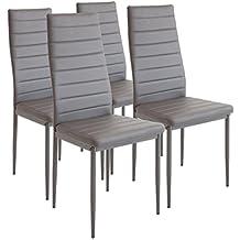 albatros milano set de sillas de comedor gris