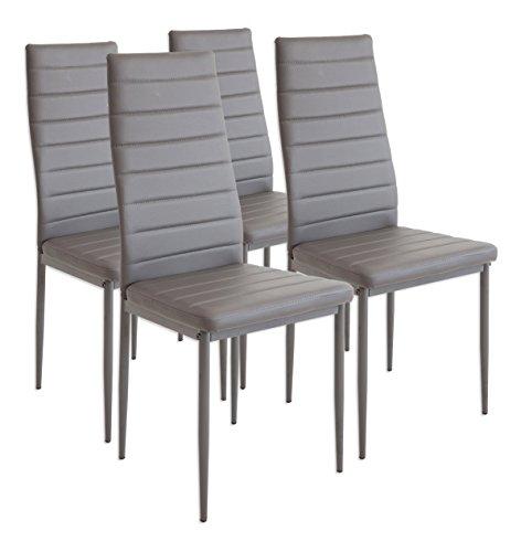 Albatros 2553 milano 4 sedie per sala da pranzo, grigio