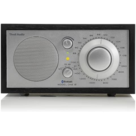 Tivoli Model One BT - Radio (AM, FM, Bluetooth), color negro y plateado (importado)