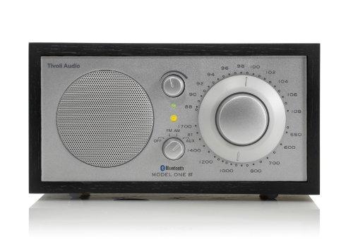 Tivoli-M1BTSLB-Audio Model One BT - Radio da tavolo AM/FM, con connettività Bluetooth, cabinet in legno, colore: Nero/Argento