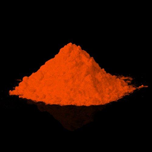 lumentics Glühpulver Orange - Leuchtpigmente, Selbstleuchtende Farbpigmente, Nachleuchtpulver, Nachtleuchtpulver, UV Farbpulver, Nachleuchtpigment, Nachleucht-Pigment (40g, Orange, Sulfit) (Epoxid-harz-pulver)