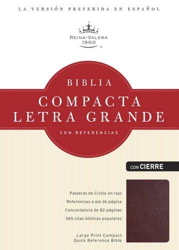 Biblia Compacta Letra Grande Con Referencias-Rvr 1960-Zipper Closure
