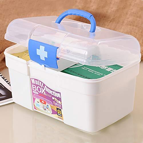 41TIFZ6SapL - Ouken Caso Gabinete Caja de la Medicina Medicina de Primeros Auxilios Caja Multifuncional de Medicina de estaño Protable Drogas Box