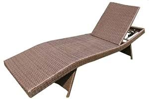 ambientehome polyrattan liege gartenliege somalia braun. Black Bedroom Furniture Sets. Home Design Ideas