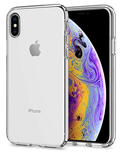 Spigen liquid crystal cover iphone xs, 5.8 inch cover iphone x con protezione sottile e chiarezza premium per apple iphone xs (2018) / iphone x (2017) - crystal clear