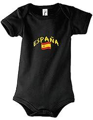 supportershop Body Baby schwarz Spanien Fußball
