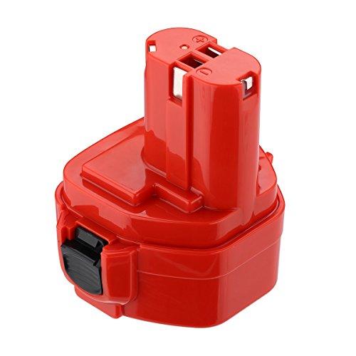 Powerextra 12V 3.0Ah Ni-MH batterie pour Makita outil sans fil 1220 1222 1223 1234 1235 1235B 1235F 192696-2 192698-8 192698-A 193138-9 193157-5 Rouge