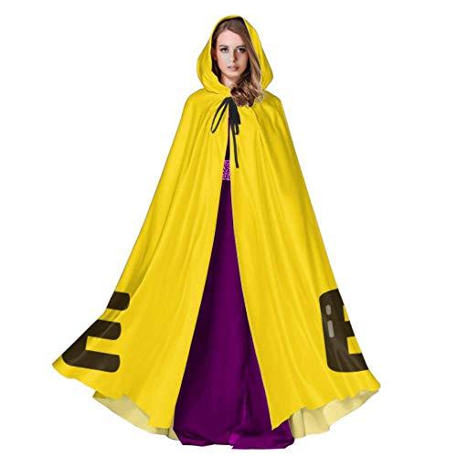 VNASKL Hart arbeitende kleine Honey Bee Mantel Hood Womans Hooded Cloak 59 Zoll für Weihnachten Halloween Cosplay Kostüme