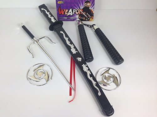 Image of Kids Ninja Sword Toy Weapons Set Teenage Ninja Turtles Movie Fancy Dress Party