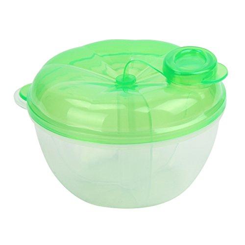 Yodensity 3 Abteil Baby Milchpulver Portionierer Transparent Spender Milchflasche mit Schraubdeckel für Mutter Outdoor Reise