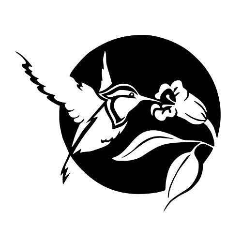 xmydeshoop Hummingbird Wandaufkleber Für Kinderzimmer Wanddekoration Vogel Blume Abnehmbare Vinyl Wandkunst Wandaufkleber Aufkleber 58X67 cm -