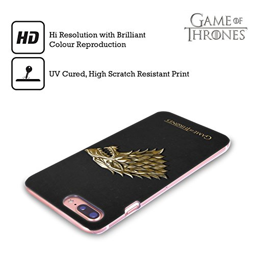Ufficiale HBO Game Of Thrones Argento Targaryen Embossed Sigilli Cover Retro Rigida per Apple iPhone X Oro Stark