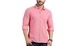 TURMS Stain Repellent & Anti Odour Knitted Shirt Casual Shirts for Men