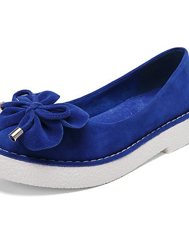 ZQ Scarpe Donna - Mocassini - Formale / Casual - Comoda / Punta arrotondata / Chiusa - Plateau - Scamosciato -Nero / Blu / Giallo / Rosa / , black-us6.5-7 / eu37 / uk4.5-5 / cn37 , black-us6.5-7 / eu3 yellow-us8.5 / eu39 / uk6.5 / cn40