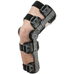 Breg Teleskop Post OP Rom Scharnier Bein Kniebandage–NHS geprüft–Voll verstellbar–Universal Größe passt beiden Beinen–J4