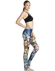 Ladies Slim hanche suer-absorbant respirant fitness stretch pantalon d'yoga