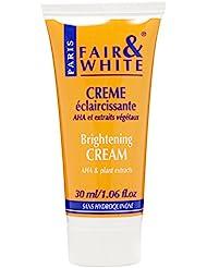Fair and White Original Cosmétique pour Peau Colorée Crème AHA et Extraits Végétaux 30 ml