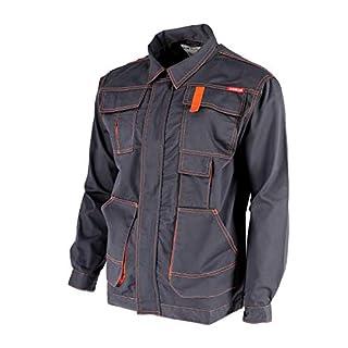 KREXUS Herren Arbeitsjacke Grau mit Orange Gr. XL EX10401XL