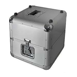 DJ Vinyl Flight Case 70 LP Record Storage Box - Silver