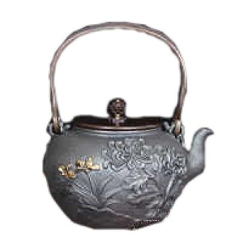 Efudfj Cast Iron Teapot Kung Fu Tea Set Pig Iron Pot,A:Bamboomoney
