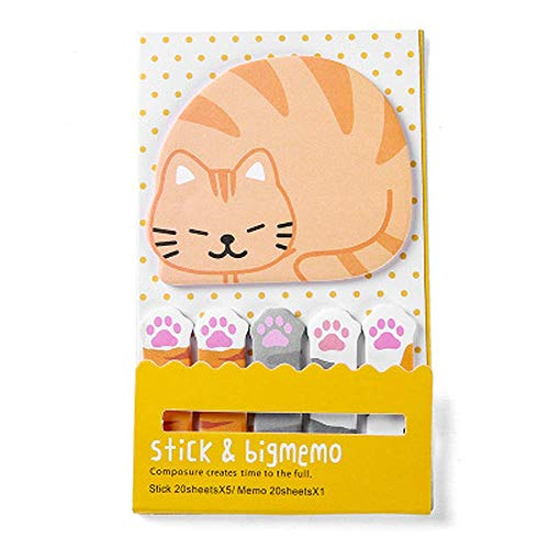 1pcs Nette Sticky Notes Cartoon Animal Bookmarks Kawaii Page Flags Panda Cat Birdcage Sticker Index Tabs DIY Memo Pad Sticky Notes for Office School Reading