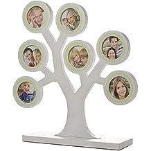 Pearhead - Marco de fotos, diseño árbol genealógico, color blanco