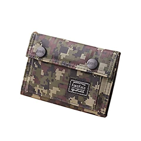 Brand New Teens Boys Tri-fold Camouflage Color Wallet Casual Canvas Purse Credit Card Holder Notecase for