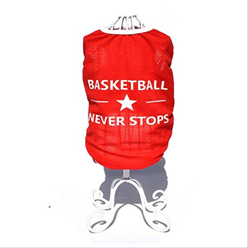 UD-strap Hunde-T-Shirt für Frühjahr/Sommer, Basketball-T-Shirt, Baumwolle, atmungsaktiv, 6 Stück