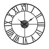 Orologio da parete in metallo - Stile vintage - Diametro 40 cm