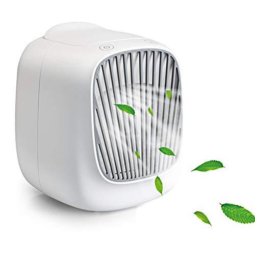 WJQ Persönliche Klimaanlage, tragbarer Klimaanlagenlüfter, Mini-persönlicher Verdunstungsluftkühler Kleiner Desktop-Lüfter für Zuhause, Büro, Raum