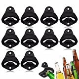10pcs Wall Mount Zinc Alloy Bar Club Wine Beer Soda Glass Cap Bottle Opener Tool