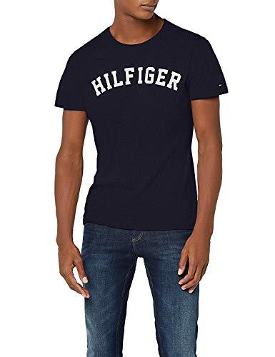 Tommy Hilfiger SS tee Logo Camiseta, Azul Navy Blazer 416, X-Large para Hombre