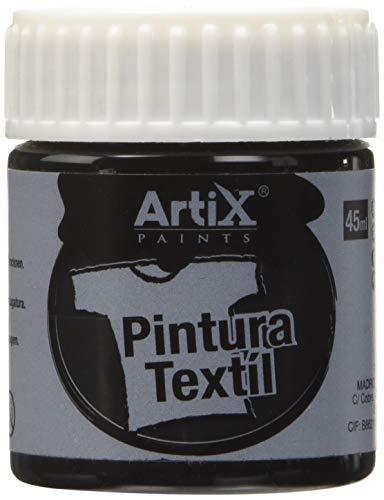Plascolor PP651-23 - Pintura textil, 45 ml, color negro