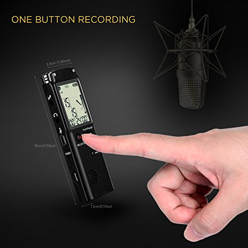 Digital-Voice-recorderAdokey-1536kbps-8G-Audio-Recorder-Double-Recording-Microphone-Portable-Dictaphone-for-LectureSound-Recorder-with-One-Touch-Recording-A-B-Repeat-Mp3-Player