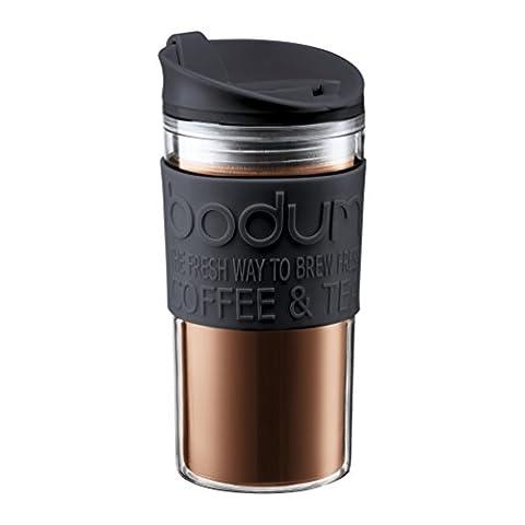 Bodum Travel Mug, Plastic, Black, 0.35 Litre/15 oz.