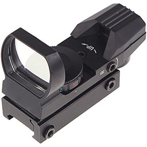Docooler Olografico 4 Reticoli Elettro Rosso / Verde Punto Tattico 33 * 22 mm Mirino di Riflesso con il Monte Caccia Combattimento Militare