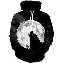 EUR Plus Size Wolf Sudaderas Impresión 3D Animales del Hombre Lobo Hoody Sudadera Hip Hop Unisex