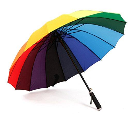 GTWP GT Umbrella Regenbogen Regenschirm Sun Rain Automatisch Umbrella Anti-UV Waterproof Parasol Regenschirm Sunshade