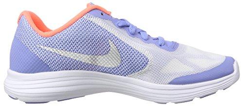 Nike Revolution 3 (Gs) Scarpe da ginnastica, Bambine e ragazze Multicolore (Mehrfarbig (Chalk Blue/Metallic Silver-Bright Mango 400))