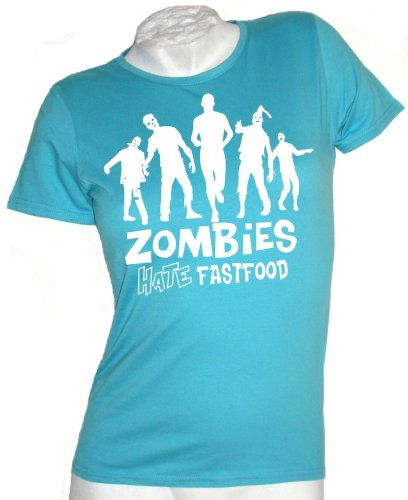 Zombies Hate Fastfood woman T-shirt Atoll