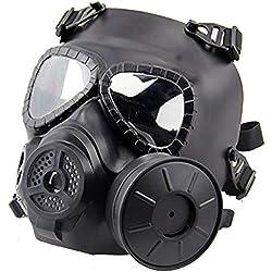 QHIU Masque Tactique M04 avec Ventilateur Masque de Protection intégrale du Visage Airsoft pour CS Airsoft Paintball
