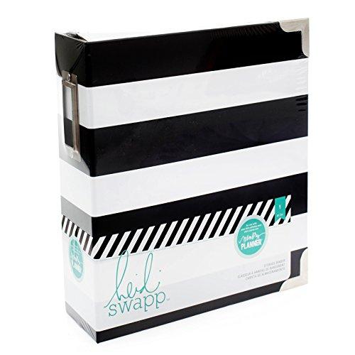 American Crafts Heidi Swapp 10268595Schablone zum Speicher Planer Speicher Binder 8Zoll x 8.75-inch X 3Zoll schwarz und weiß gestreift, Acryl, Mehrfarbig