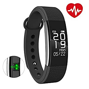 Bingo F1 Waterproof Silicone Smart Fitness Band for All Android and iOS Devices (Black)