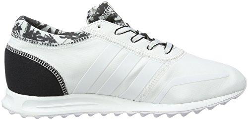 adidas Los Angeles, Baskets Basses Femme, 42 EU Blanc (Ftwr White/Ftwr White/Core Black)
